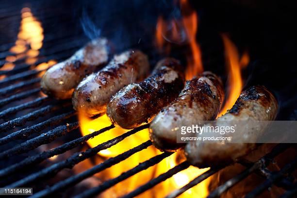 bbq Grill bratwurst mit Kartoffelpüree (bangers
