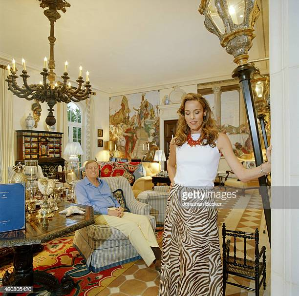 BBusinessman David Koch and wife Julia are photographed for Vanity Fair Magazine on February 23 2003 in Palm Beach Florida