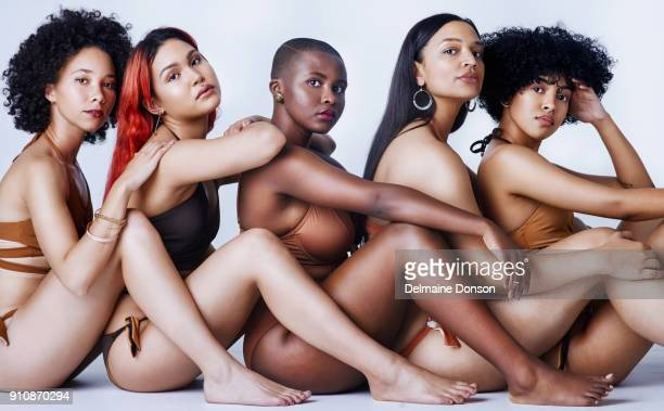 be a part of the body positive movement - voluptuous black women stock photos and pictures