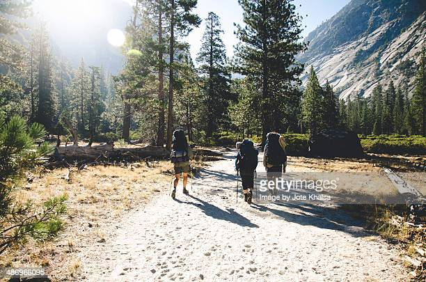 be adventurous! - john muir trail stock photos and pictures