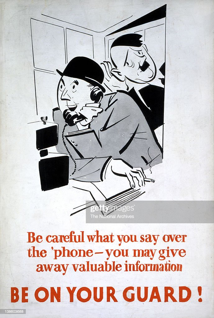 be careful what you say be on your guard wwii careless talk