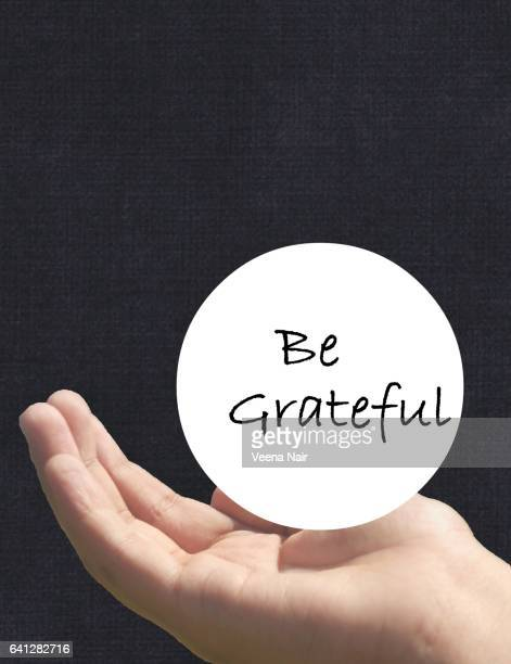 be grateful | typography | mixed media - typographies stock photos and pictures