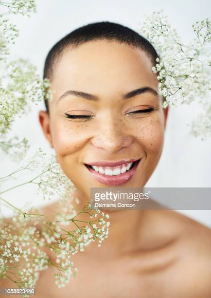be happy, be beautiful - freckle stock photos and pictures
