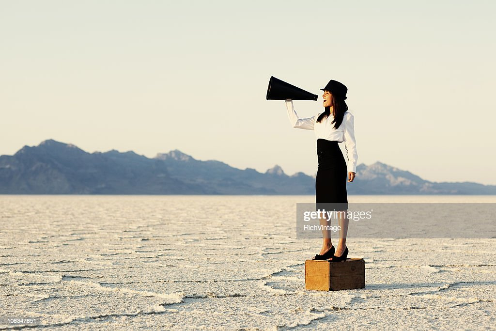 Be Heard : Stock Photo