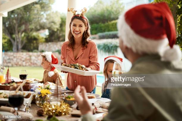 be jolly and fill your belly - party host stock pictures, royalty-free photos & images