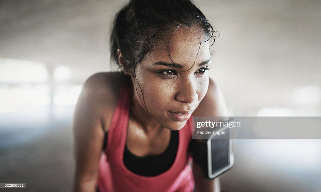 Essere più forte, mentalmente che fisicamente sentire : Foto stock