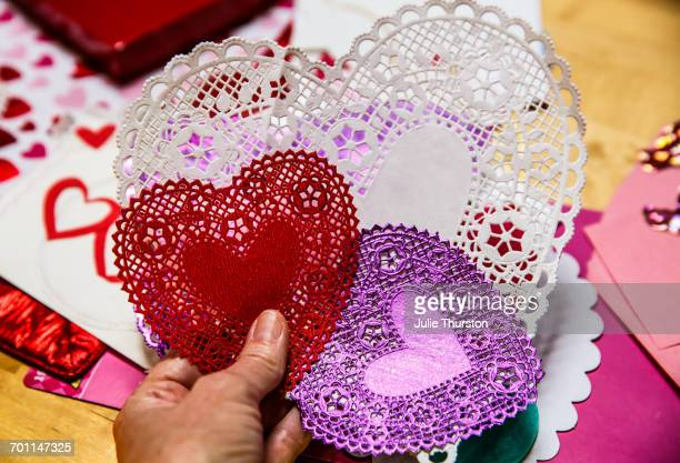 be my valentine - doily stock photos and pictures