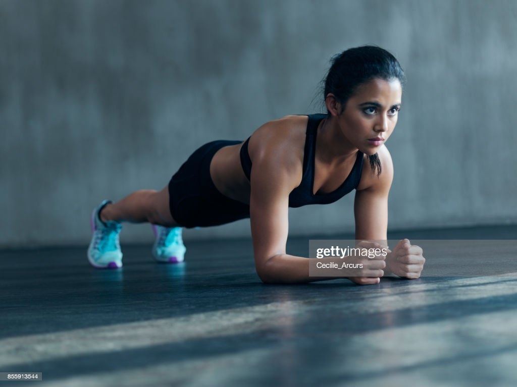 Be persistent by insisting on working out : Stock Photo
