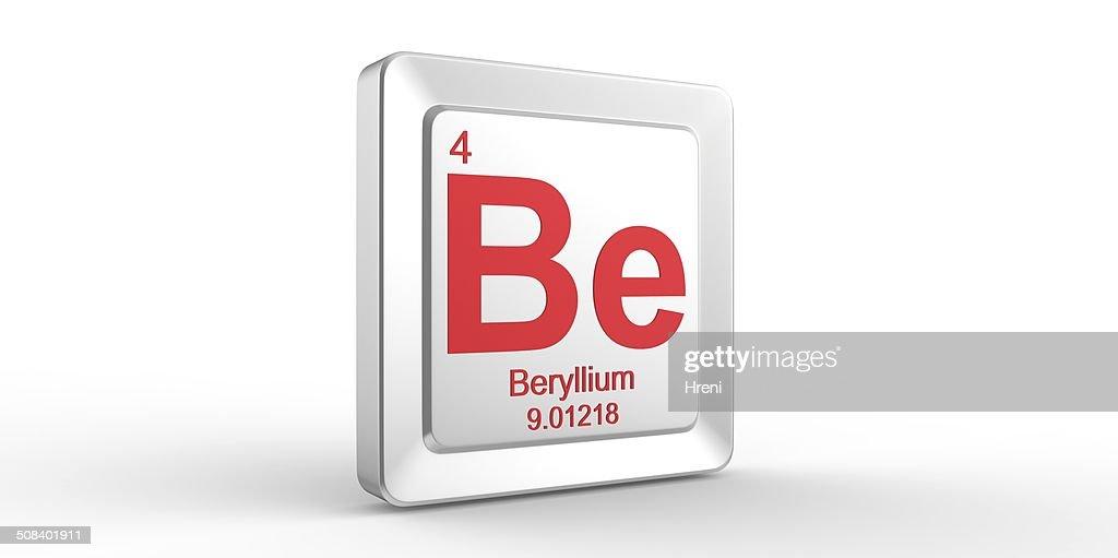 Be Symbol 4 Material For Beryllium Chemical Element Stock Photo