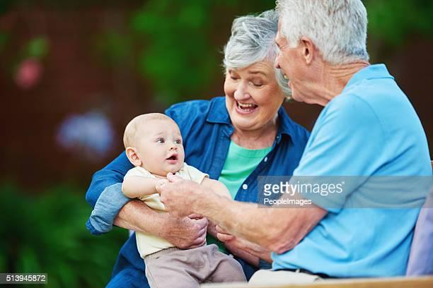Die Großeltern Sie wollen, denken Sie daran