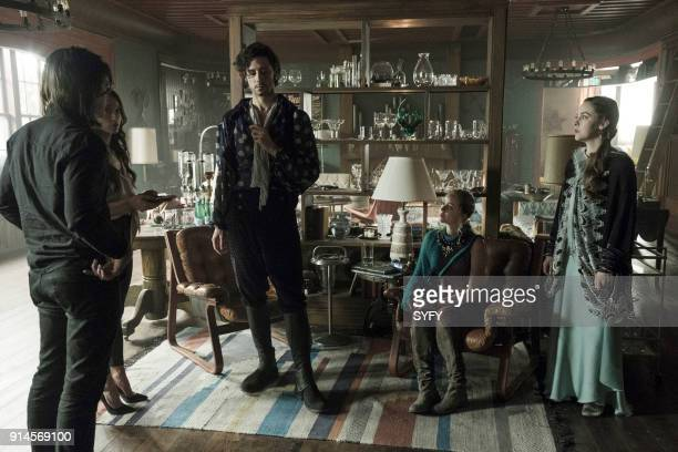 THE MAGICIANS Be the Penny Episode 304 Pictured Stella Maeve as Julia Wicker Hale Appleman as Eliot Waugh Madeleine Arthur as Fray Brittany Curran as...