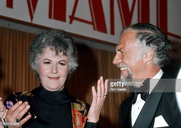 Bea Arthur and guest during Mame Los Angeles Premiere at Pacific Cinerama Dome Theatre in Hollywood California United States