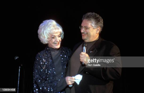 Bea Arthur and Harvey Fierstein during Heart Song The Heroes' Concert Broadway Cabaret Benefit for Twin Towers Fund October 8 2001 at Bottom Line in...
