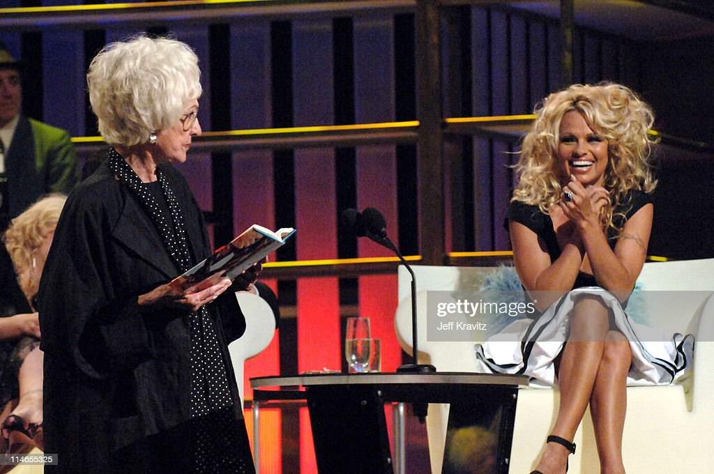 Bea Arthur and Pamela Anderson during Comedy Central Roast of Pamela Anderson - Show at Sony Studios in Culver City, California, United States.