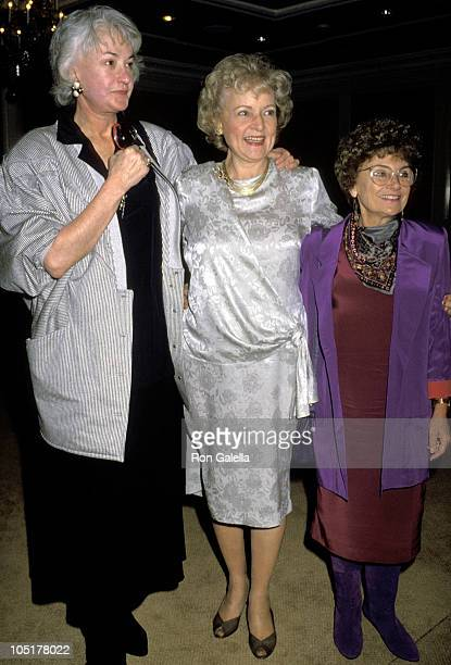 Bea Arthur Betty White and Estelle Getty during 48th Golden Apple Awards at Beverly Wilshire Hotel in Beverly Hills California United States