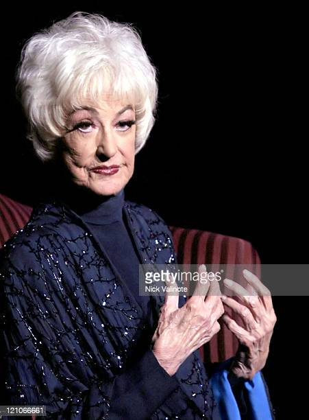 Bea Arthur during Bea Arthur Peforms at the Tropicana Showroom in Atlantic City June 4 2005 at Tropicana Showroom in Atlantic City New Jersey United...