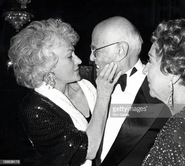 Bea Arthur Norman Lear and Jean Stapleton during People For the American Way 10th Anniversary Celebration at Waldorf Hotel in New York City New York...