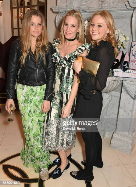 Bea Fresson Alice NaylorLeyland and Elinor Fresson attend a VIP dinner celebrating Mrs Alice for French Sole at The Connaught Hotel on April 25 2017...
