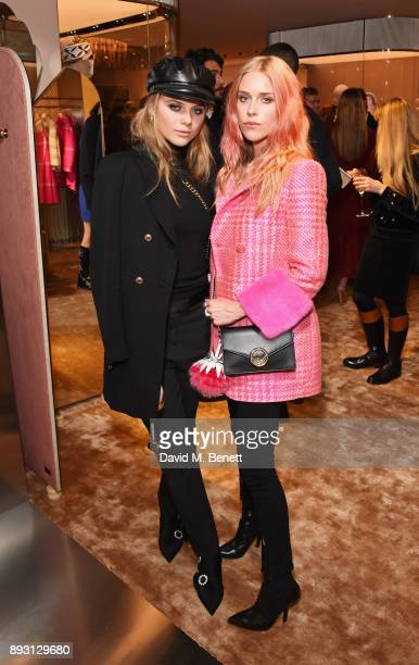 Bea Fresson and Mary Charteris attend the FENDI Sloane Street boutique opening on December 14 2017 in London England