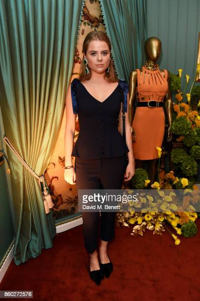 Bea Fresson attends the William Vintage x Farfetch Gianni Versace archive launch dinner at The Dorchester on October 11 2017 in London England