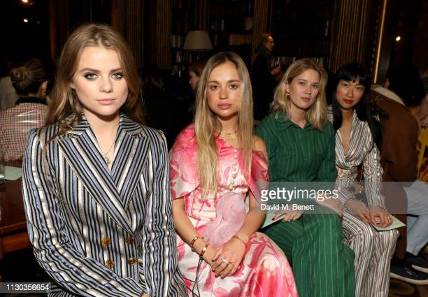Bea Fresson Lady Amelia Windsor Eleanor Balfour and Mimi Xu attend the Peter Pilotto Autumn Winter 2019 Show on February 17 2019 in London England