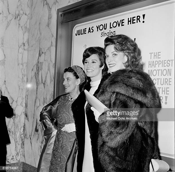 Bea Lillie Mary Tyler Moore and Maureen O'Hara pose at an event in Los AngelesCA