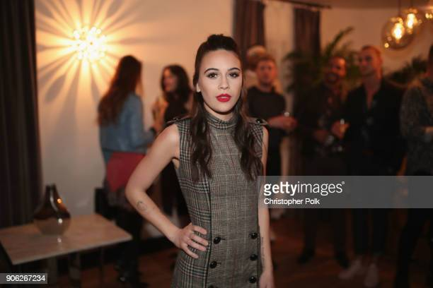 Bea Miller attends the Wolk Morais Collection 6 Fashion Show at The Hollywood Roosevelt Hotel on January 17 2018 in Los Angeles California