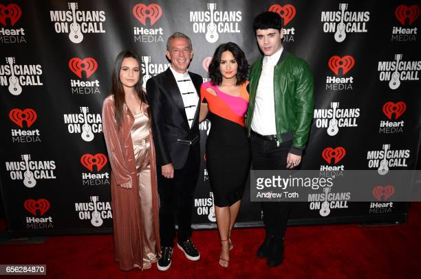 Bea Miller Elvis Duran Demi Lovato and Leon Else attend Musicians On Call presents A Night To Celebrate Elvis Duran at The Edison Ballroom on March...