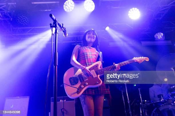Beabadoobee performs at The Liquid Room on October 03, 2021 in Edinburgh, Scotland.