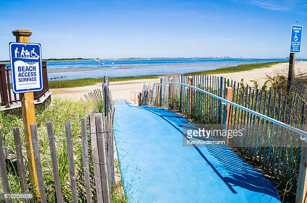 beach access for all - disabled access stock photos and pictures