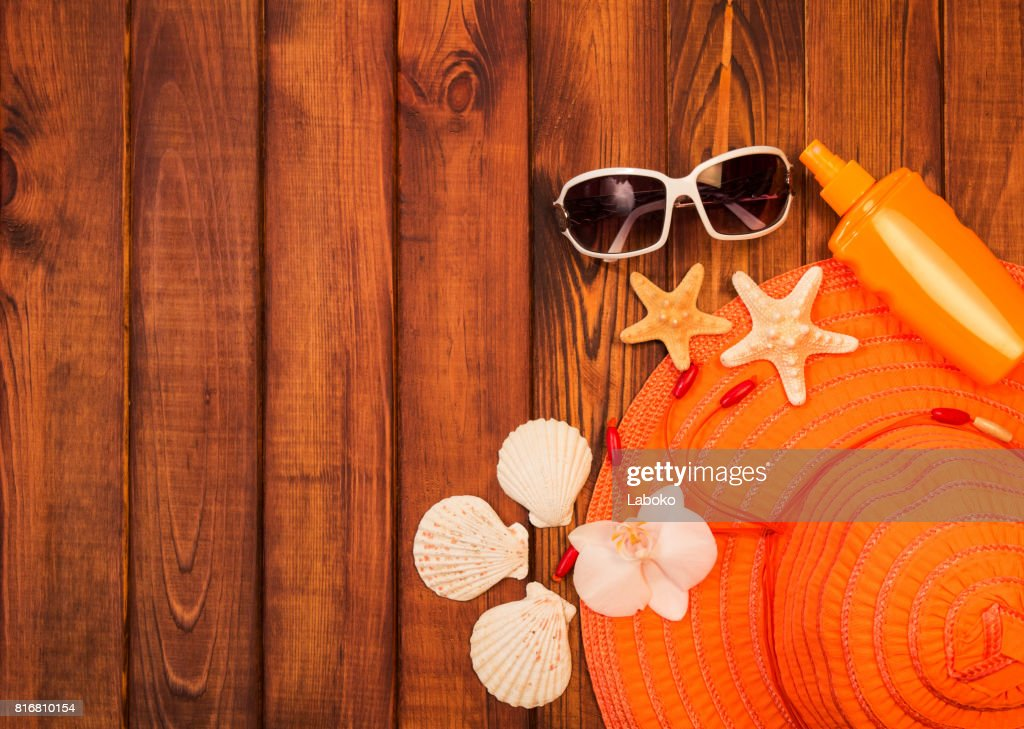 Beach Accessories Hat Sunscreen And Sunglasses Starfish ...