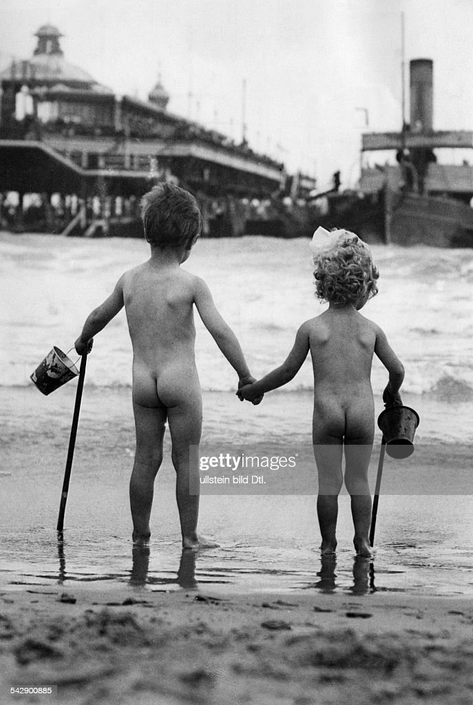 Beach And Bathing Scenes Two Naked Kids Standing With Buckets And News Photo  Getty Images-7521