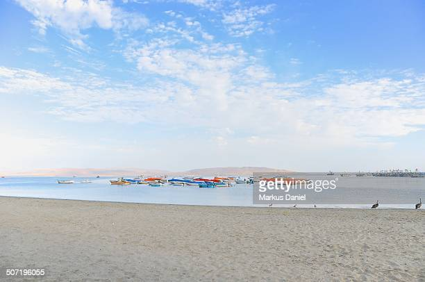 "beach and boats in paracas, peru - ""markus daniel"" stock pictures, royalty-free photos & images"