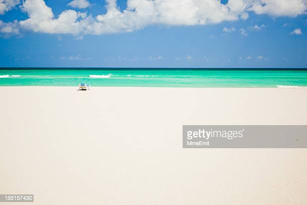 beach and chair - varadero beach stock pictures, royalty-free photos & images