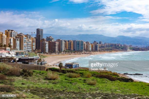 beach and cityscape of Beirut