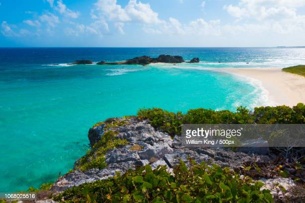 beach and cliff on sea coast - turks and caicos islands stock pictures, royalty-free photos & images