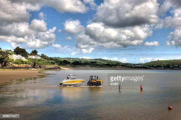 Beach and coast at Abersoch on Lleyn Peninsula in Wales