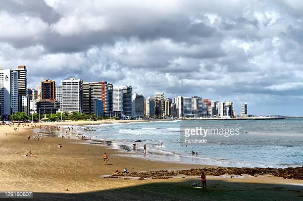 Beach and Fortaleza city