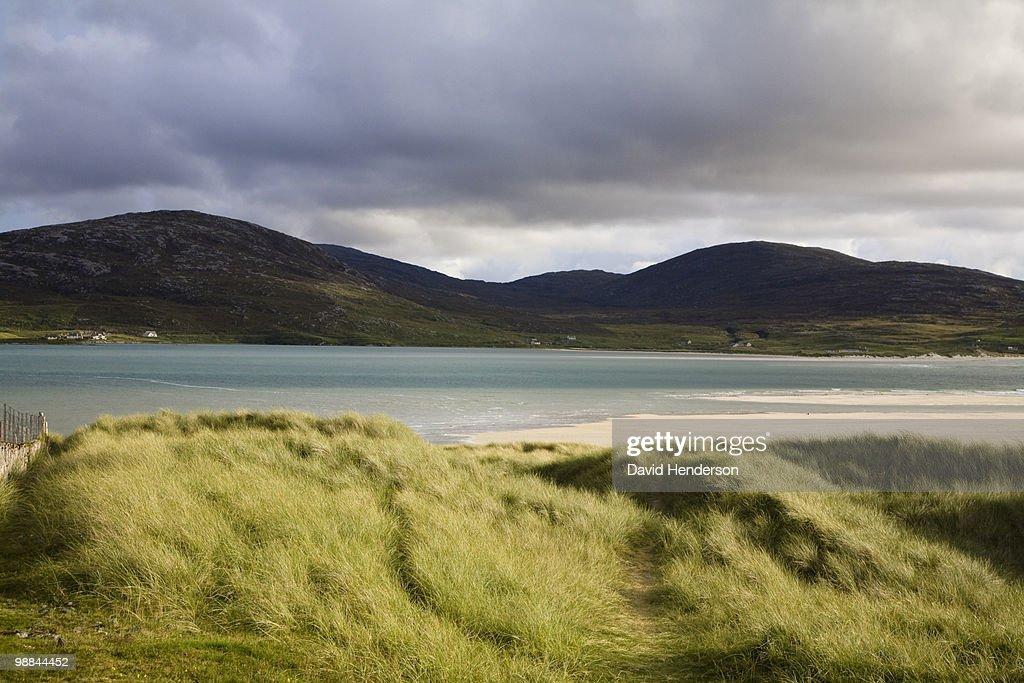 Beach and hills, Luskentire, Isle of Harris : Stockfoto