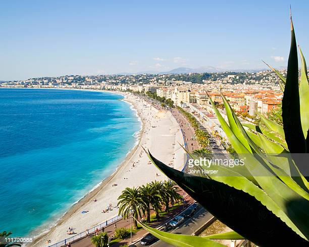 Beach and Promenade d'Anglais, Nice, Cote d'Azur,