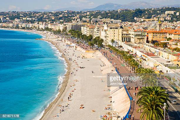 Beach and Promenade des Anglais in Nice