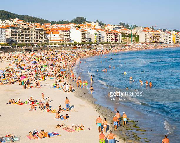 Beach and resorts at Sanxenxo Spain