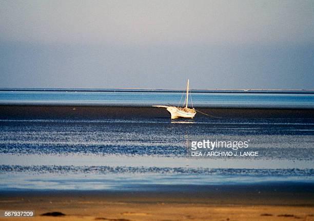 Beach and sailboat Djerba Tunisia