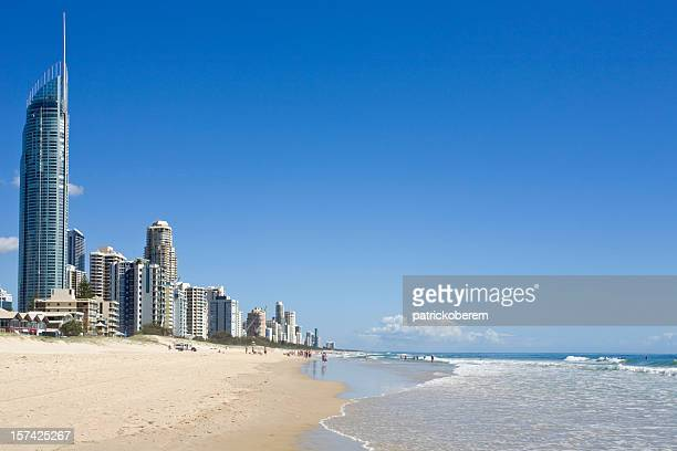 Beach and sea at the Gold Coast in Australia