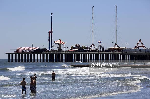 Beach and Steel Pier Amusement Park