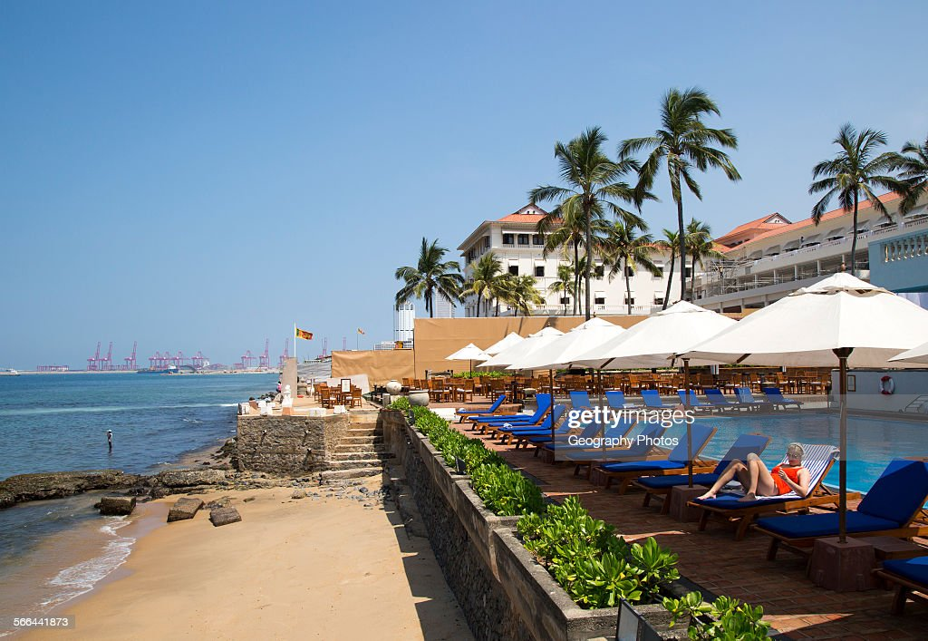 Beach And Swimming Pool Galle Face Hotel Colombo Sri Lanka Asia