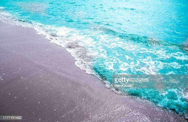 beach and wave - zushi kanagawa stock photos and pictures