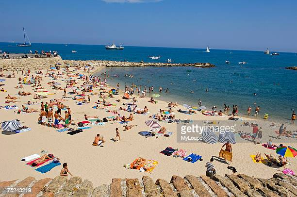 Beach Antibes Provence_Alpes_Cote dAzur French Riviera France Europe