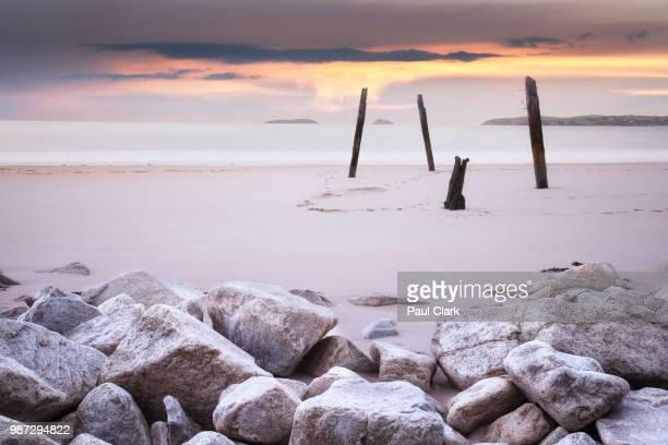 A beach at Abersoch in Gwynedd, Wales.