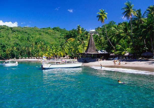 Beach at Anse Chastenet, St Lucia, Caribbean